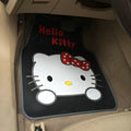 Elegant Hello Kitty Cartoon Princess Universal Automobile Carpet Car Floor Mats Rubber 5pcs Sets - Black