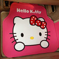 Elegant Hello Kitty Cartoon Princess Universal Automobile Carpet Car Floor Mats Rubber 5pcs Sets - Pink