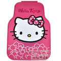 Good Hello Kitty Rose Flower Universal Automobile Carpet Car Floor Mats Rubber 5pcs Sets - Pink