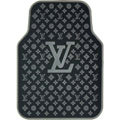 High Quality LV Louis Vuitton Classic Universal Auto Carpet Car Floor Mats Rubber 5pcs Sets - Grey