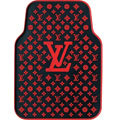 High Quality LV Louis Vuitton Classic Universal Auto Carpet Car Floor Mats Rubber 5pcs Sets - Red