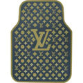 High Quality LV Louis Vuitton Classic Universal Auto Carpet Car Floor Mats Rubber 5pcs Sets - Yellow