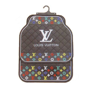 buy wholesale luxury lv louis vuitton universal automotive carpet car floor mats rubber 5pcs. Black Bedroom Furniture Sets. Home Design Ideas