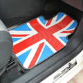 Personalised British Flag Cool Universal Automotive Carpet Car Floor Mats Rubber 5pcs Sets - Red