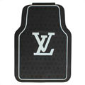 Personalized LV Louis Vuitton Unique Universal Auto Carpet Car Floor Mats Rubber 5pcs Sets - Black