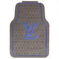 Personalized LV Louis Vuitton Unique Universal Auto Carpet Car Floor Mats Rubber 5pcs Sets - Coffee