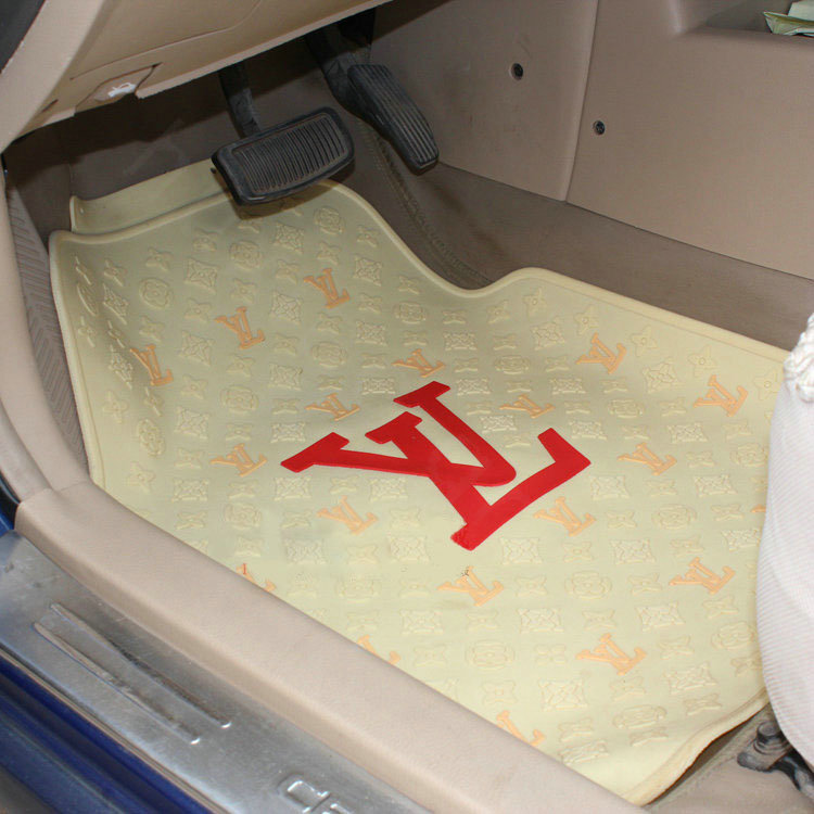buy wholesale personalized lv louis vuitton unique universal auto carpet car floor mats rubber. Black Bedroom Furniture Sets. Home Design Ideas