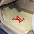 Personalized LV Louis Vuitton Unique Universal Auto Carpet Car Floor Mats Rubber 5pcs Sets - Yellow