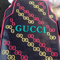 Unique Gucci Waterproof Universal Automobile Carpet Car Floor Mats Rubber 5pcs Sets - Red