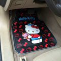 Unique Hello Kitty Cartoon Bear Universal Automobile Carpet Car Floor Mats Rubber 5pcs Sets - Black