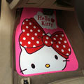 Unique Hello Kitty Cartoon Princess Universal Automobile Carpet Car Floor Mats Rubber 5pcs Sets - Pink