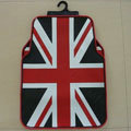 United Kingdom Britain British Flag Universal Automotive Carpet Car Floor Mats Rubber 5pcs Sets - Red