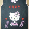 Brand Hello Kitty Cartoon Korea Universal Auto Carpet Car Floor Mats Rubber 5pcs Sets - Black