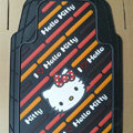 Brand Hello Kitty Cartoon Unique Universal Auto Carpet Car Floor Mats Rubber 5pcs Sets - Brown
