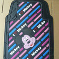 Brand Mickey Mouse Cartoon Unique Universal Auto Carpet Car Floor Mats Rubber 5pcs Sets - Pink