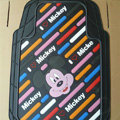 Brand Mickey Mouse Cartoon Unique Universal Auto Carpet Car Floor Mats Rubber 5pcs Sets - White