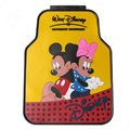 Classic Mickey Minnie Mouse Disney Cute Universal Auto Carpet Car Floor Mats Rubber 5pcs Sets - Yellow