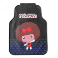 Classic Mocmoc Cartoon Cute Universal Auto Carpet Car Floor Mats Rubber 5pcs Sets - Black