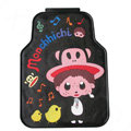 Classic Monchhichi Cartoon Paul Frank Universal Auto Carpet Car Floor Mats Rubber 5pcs Sets - Black