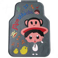 Classic Monchhichi Cartoon Paul Frank Universal Auto Carpet Car Floor Mats Rubber 5pcs Sets - Gray