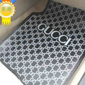 High Quality Gucci Waterproof Universal Automobile Carpet Car Floor Mats Rubber 5pcs Sets - Gray