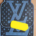 Luxury LV Louis Vuitton Funky Universal Automotive Carpet Car Floor Mats Rubber 5pcs Sets - Blue