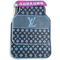 Luxury LV Louis Vuitton Unique Universal Automotive Carpet Car Floor Mats Rubber 5pcs Sets - Blue