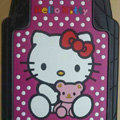 Princess Hello Kitty Cartoon Bear Universal Automobile Carpet Car Floor Mats Rubber 5pcs Sets - Pink