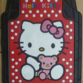 Princess Hello Kitty Cartoon Bear Universal Automobile Carpet Car Floor Mats Rubber 5pcs Sets - Red