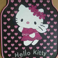 Princess Hello Kitty Cartoon Heart Universal Automobile Carpet Car Floor Mats Rubber 5pcs Sets - Pink