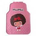 Quality Mocmoc Cartoon Cute Universal Auto Carpet Car Floor Mats Rubber 5pcs Sets - Pink