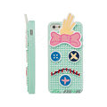 3D Forrest Gump Cover Disney DIY Silicone Cases Skin for iPhone 6 - Blue