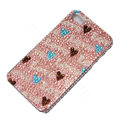 Bling Swarovski crystal cases Love diamond covers for iPhone 6 - Pink