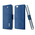 IMAK Squirrel lines leather Case support Holster Cover for iPhone 6 - Blue