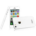IMAK Water Jade Shell Hard Cases Covers for iPhone 6 - White (High transparent screen protector)