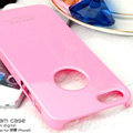 Imak ice cream hard cases covers for iPhone 6 - Pink (High transparent screen protector)