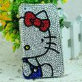 Luxury Bling Hard Covers Hello kitty diamond Crystal Cases Skin for iPhone 6 - White