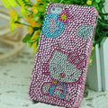 Luxury Bling Hard Covers Hello kitty diamond Crystal Cases for iPhone 6 - Pink