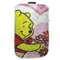 Luxury Bling Holster Covers Winnie the Pooh diamond Crystal Cases for iPhone 6 - Pink