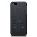Nillkin Lozenge Hard Cases Skin Covers for iPhone 6 - Black (High transparent screen protector)