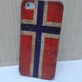 Retro Norway flag Hard Back Cases Covers Skin for iPhone 6