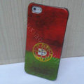 Retro Portugal flag Hard Back Cases Covers Skin for iPhone 6