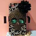Skull diamond Crystal Cases Bling Hard Covers Skin for iPhone 6 - Black