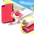 3D Bear Cover Disney DIY Silicone Cases Skin for iPhone 6 Plus - Pink