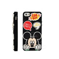 3D Mickey Mouse Cover Disney DIY Silicone Cases Skin for iPhone 6 Plus - Black
