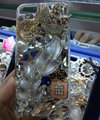 Bling Swarovski crystal cases Leafs diamond cover for iPhone 6 Plus - Silver