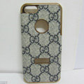 GUCCI leather Cases Luxury Hard Back Covers Skin for iPhone 6 Plus - Grey