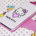 Heart Hello Kitty Side Flip leather Case Holster Cover Skin for iPhone 6 Plus - Pink