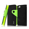 IMAK cross leather case Button holster holder cover for iPhone 6 Plus - Black