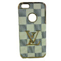 LOUIS VUITTON LV Luxury leather Cases Hard Back Covers Skin for iPhone 6 Plus - Beige